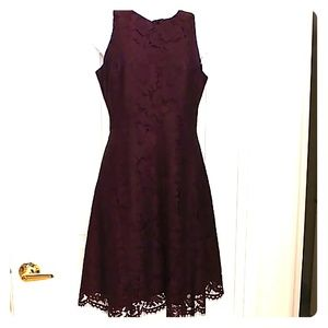 👗 Ann Taylor lace burgundy dress NEW with Tags